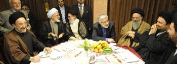 سید حسن خمینی در کنار سران فتنه 31 اردیبهشت 89